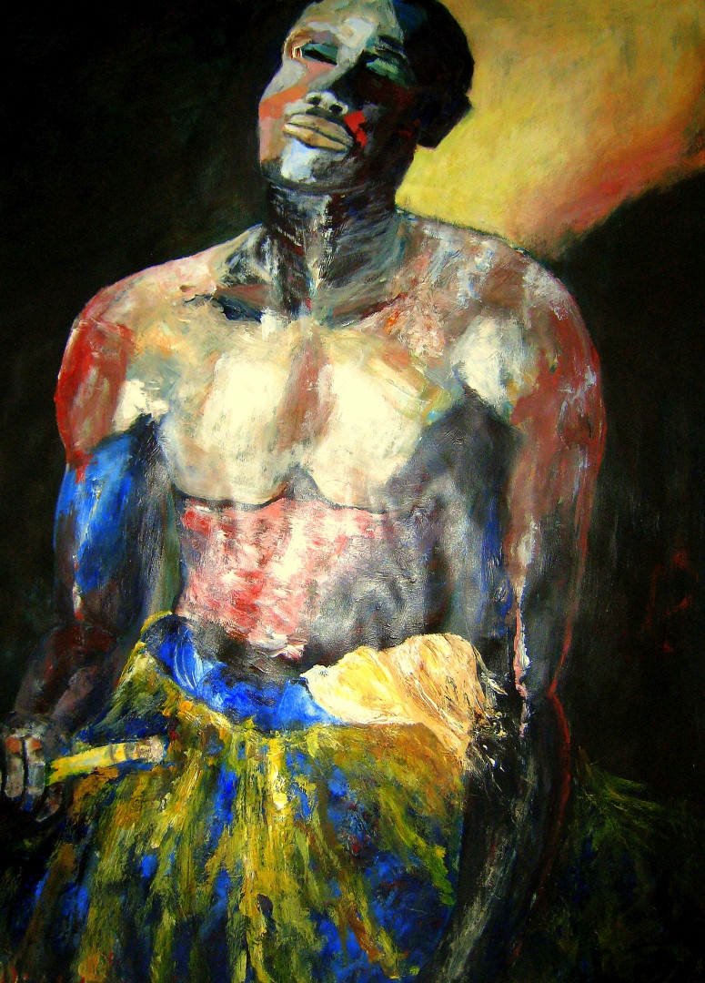 African Voodoo Priest 2 - 2006 - acrylic on paper - 100 x 70 cm