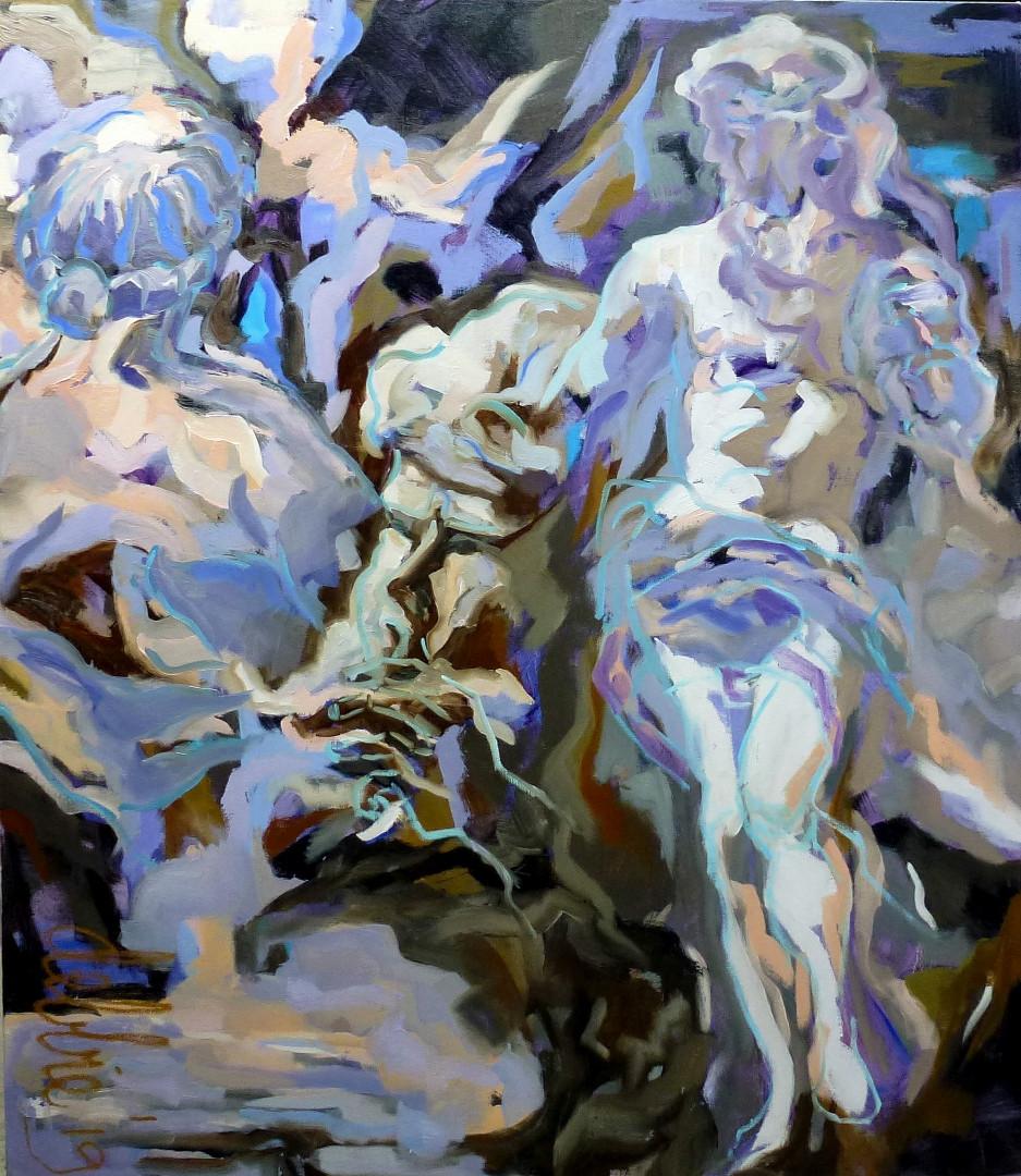 Versailles In Violet - 2019 - oil on linen - 140 x 120 cm