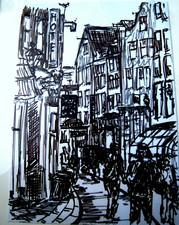 Amsterdam 14 - 2011 - marker on paper - 20,7 x 14,7 cm