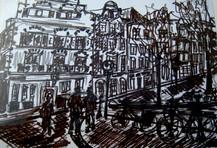 Amsterdam 3 - 2011 - marker on paper - 14,8 x 21 cm