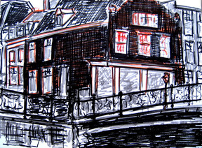Amsterdam 11 - 2011 - marker on paper - 15,1 x21 cm