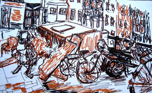 Amsterdam 17 - 2011 - marker  on paper - 16 x 26,5cm