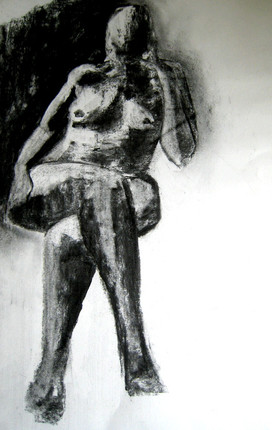 Model 8 - 2007 - charcoal on paper - 65 x 50 cm