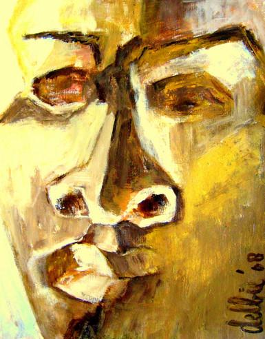 Portrait 3 - 2008 - acrylic on paper- 65 x 50 cm