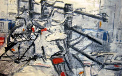 Study Bikes 3 - 2012 - oil on paper - 21 x 29,7 cm