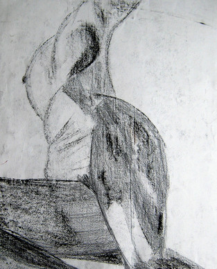 Model 6 - 2008 - chalk on paper - 65 x 50 cm