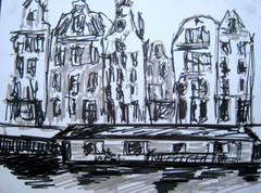 Amsterdam 7 - 2011 - marker on paper - 12,5x 16,3cm
