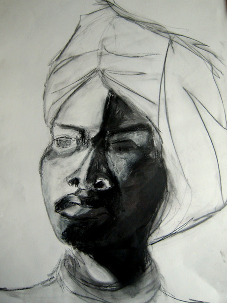 Portrait 2 - 2008 - graphite and oil on paper - 65 x 50 cm