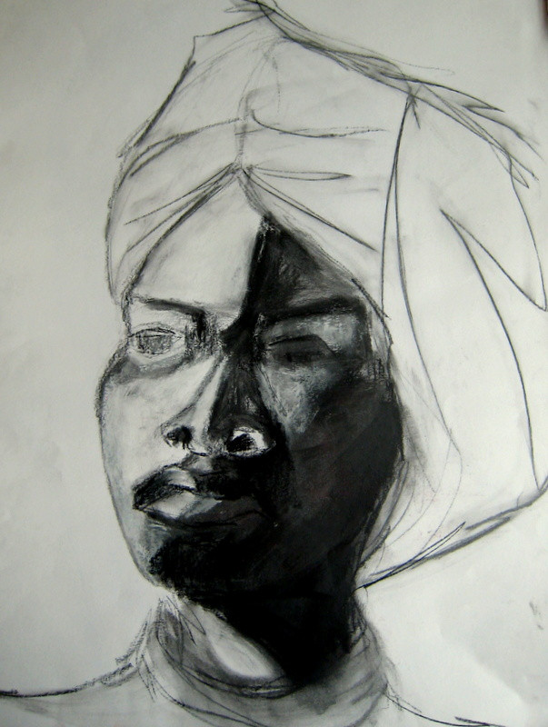 Portrait 2 - 2008 - graphite and oil on paper - 65 x 50 cm