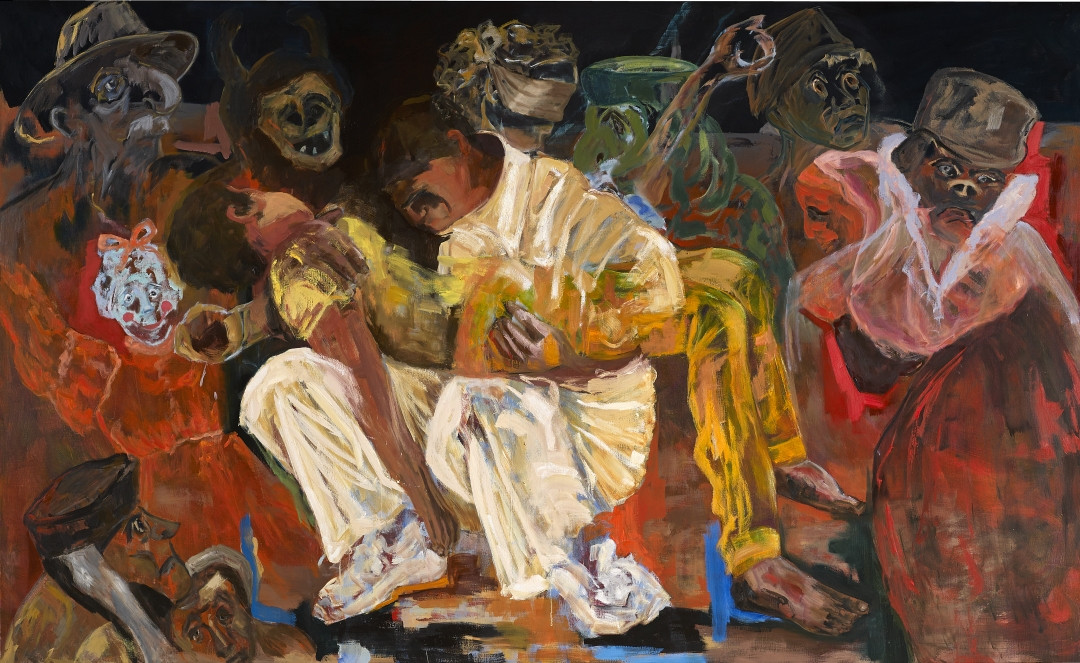 The Insanity of Humanity - 2016 - oil on linen - 180 x 300 cm