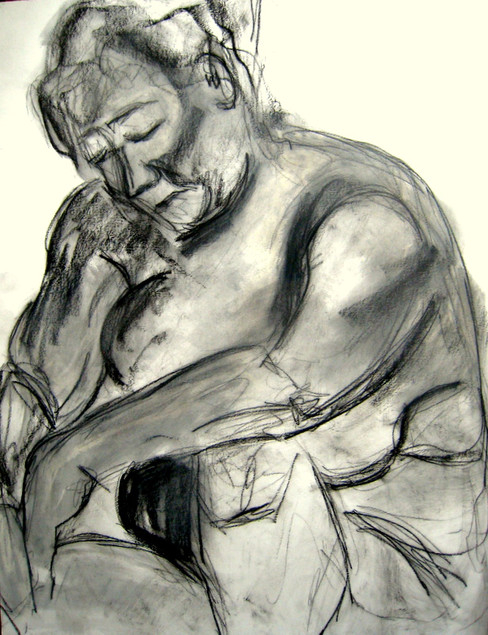 Model 7 - 2008 - graphite on paper - 65 x 50 cm