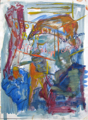 The Junk Study 1 - 2013 - oil on paper - 29,7 x 21 cm