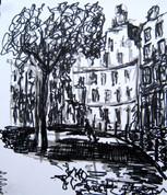 Amsterdam 8 - 2011 - marker on paper - 15,7 x 13cm