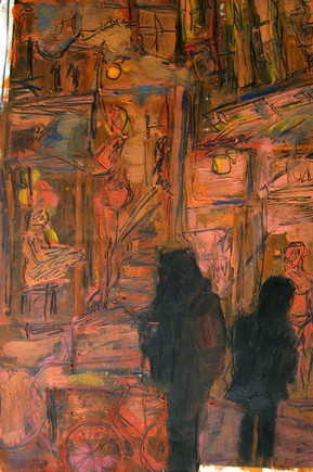 Red Light District Study 4 - 2013 - oil on paper - 42 x 29,7 cm