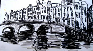 Amsterdam 12 - 2011 - marker on paper - 11 x 20cm