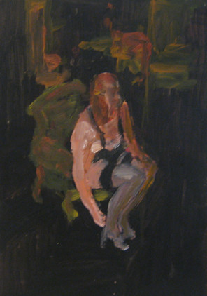 Business As Usual Study 4 - 2013 - oil on paper - 29,7 x 21 cm