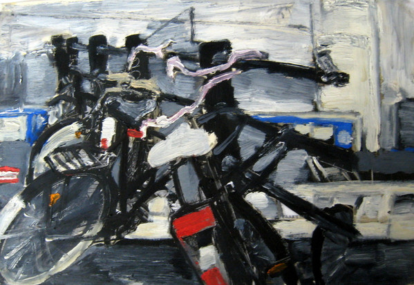 Study Bikes 2 - 2012 - oil on paper - 21 x 29,7 cm