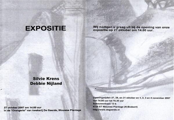 Expositie 2007 Gaerde Wouwse Plantage Silvie Krens Debbie Nijland