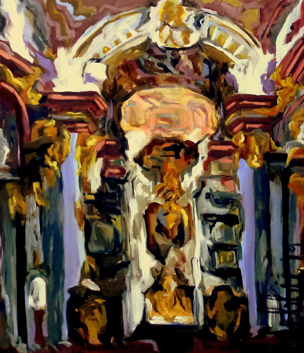 Baroque Church - 2019 - oil on linen - 140 x 120 cm