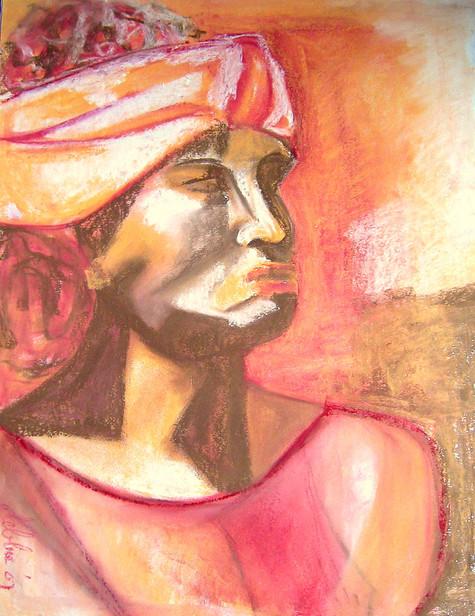 Portrait 1 - 2007 - pastel chalk on paper - 65 x 50 cm