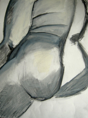 Model 1 - 2008 - graphite and oil on paper - 65 x 50 cm