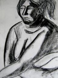 Model 5 - 2008 - charcoal on paper - 65 x 50 cm