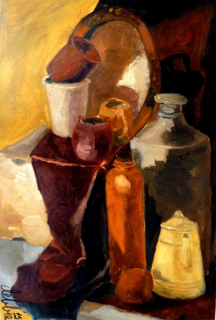 Still Life 1 - 2009 - oil on pape - 61 x 41 cm