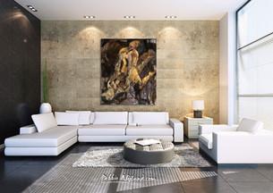 Making Money - 2013 - oil on linen - 200 x 170 cm