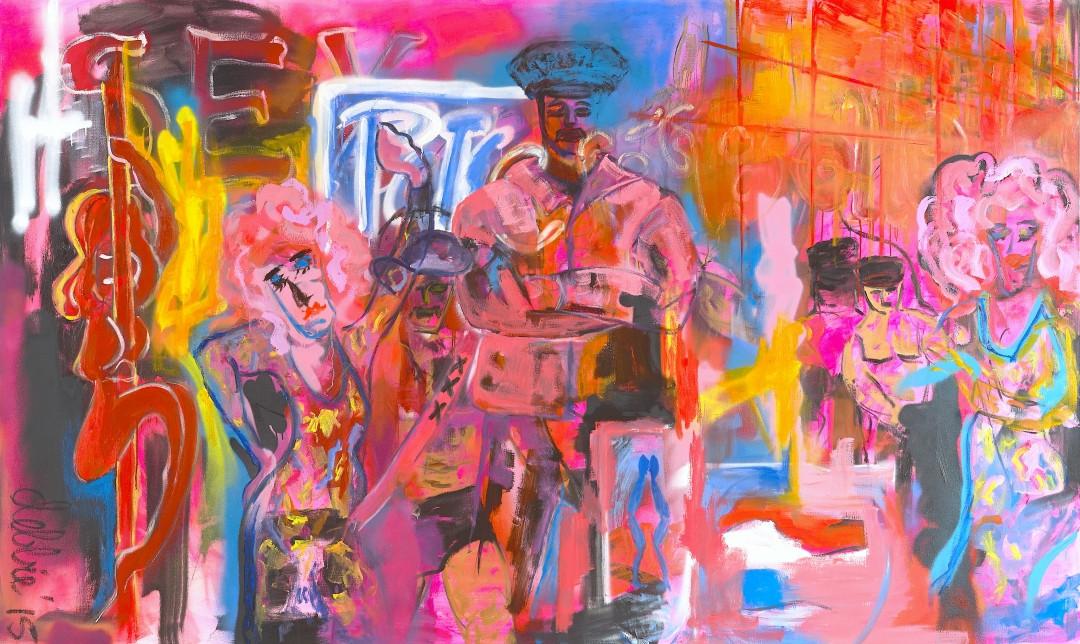 Amsterdam Pride - 2015 - oil on linen - 180 x 300 cm
