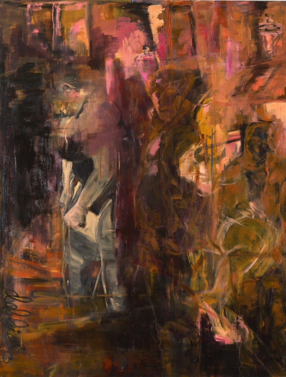 Red Light District Nightlife - 2013 - oil on linen - 200 x 150 cm