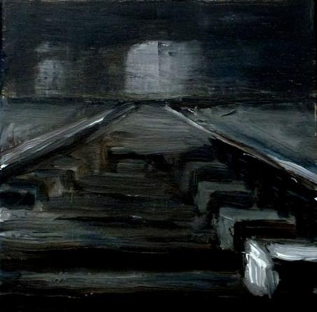 Auschwitz 1 - oil on canvas - 2019 - 20 x 20 cm