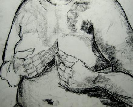 Model 4 - 2008 - charcoal on paper - 65 x 50 cm