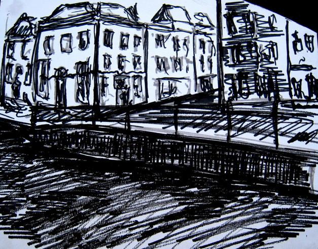 Amsterdam 2 - 2011 - marker on paper - 16 x 19,2cm