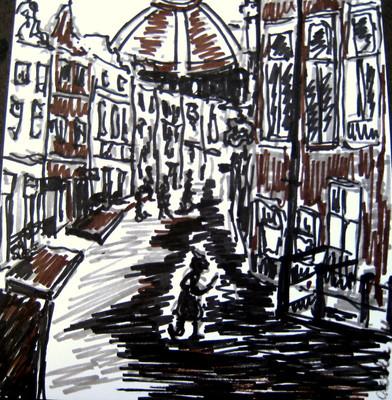 Amsterdam 13 - 2011 - marker on paper - 15,9x 14,8cm