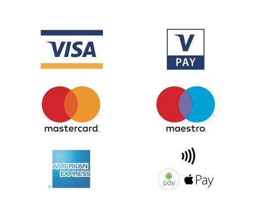Maestro Visa MasterCard American Express Welcome