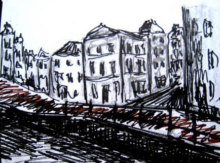 Amsterdam 6 - 2011- marker on paper - 14,8 x 16cm