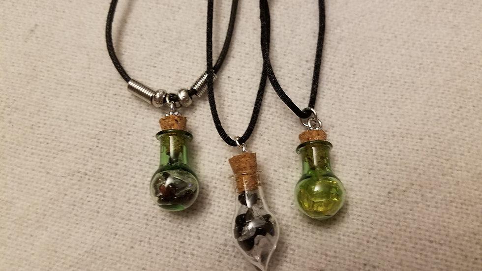 Custom Crystal Bottle Pendant