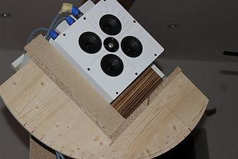 Testbox bei der akustischen Messung
