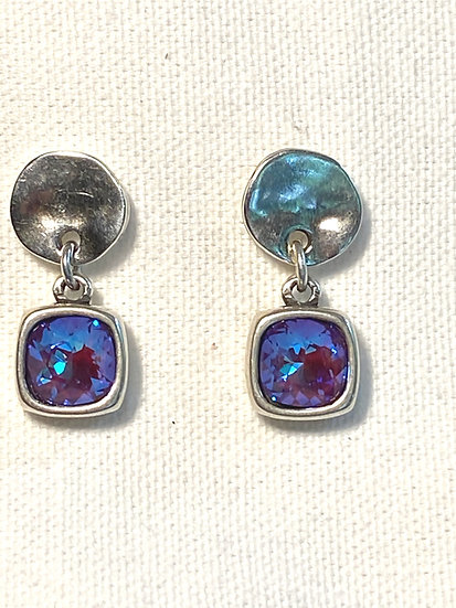 Swarovski earrings blue