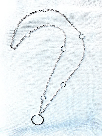Long Sterling plated necklace
