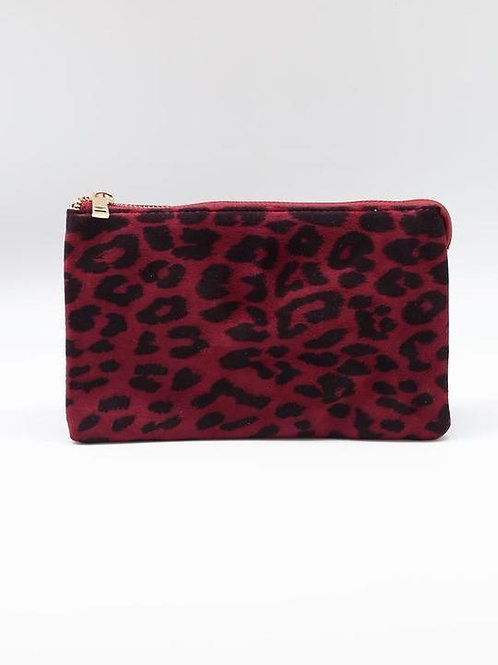 Crossbody Purse - Wine Leopard