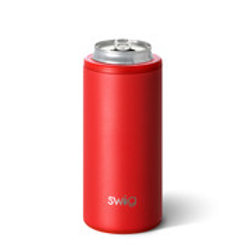 Swig 12oz Skinny Can Cooler - Red