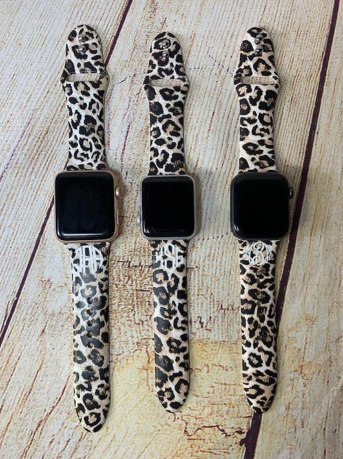 Laser Engraved Watch Band - Leopard