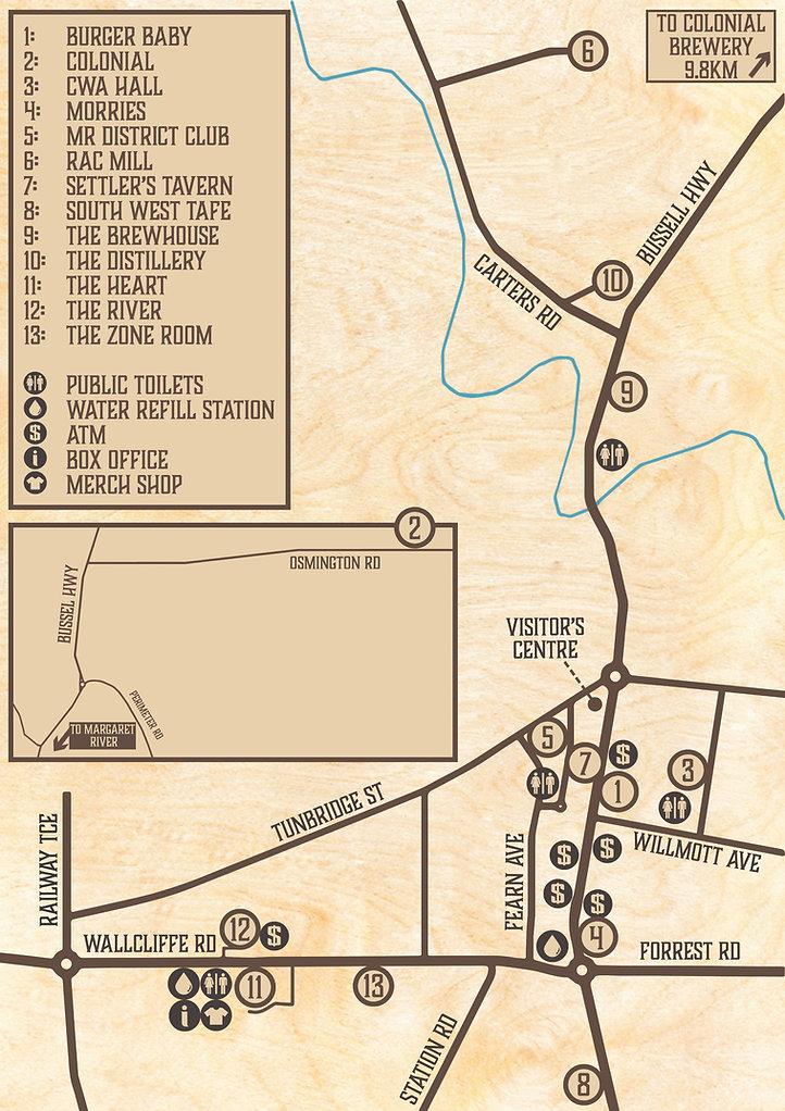 2021 WA Guitar Festival Map