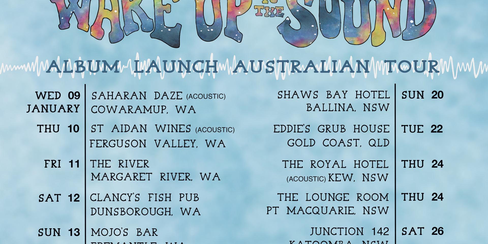 Wake Up To The Sound Album Launch AUS Tour 2019