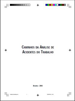 CAMINHOS DA ANÁLISE DE ACIDENTES DO