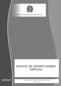 Manual de Aposentadoria Especial