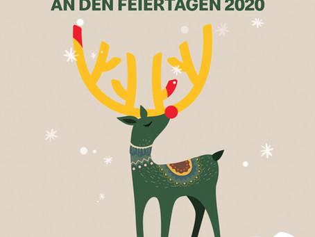 Feiertage gesonderte Öffnungszeiten 2020