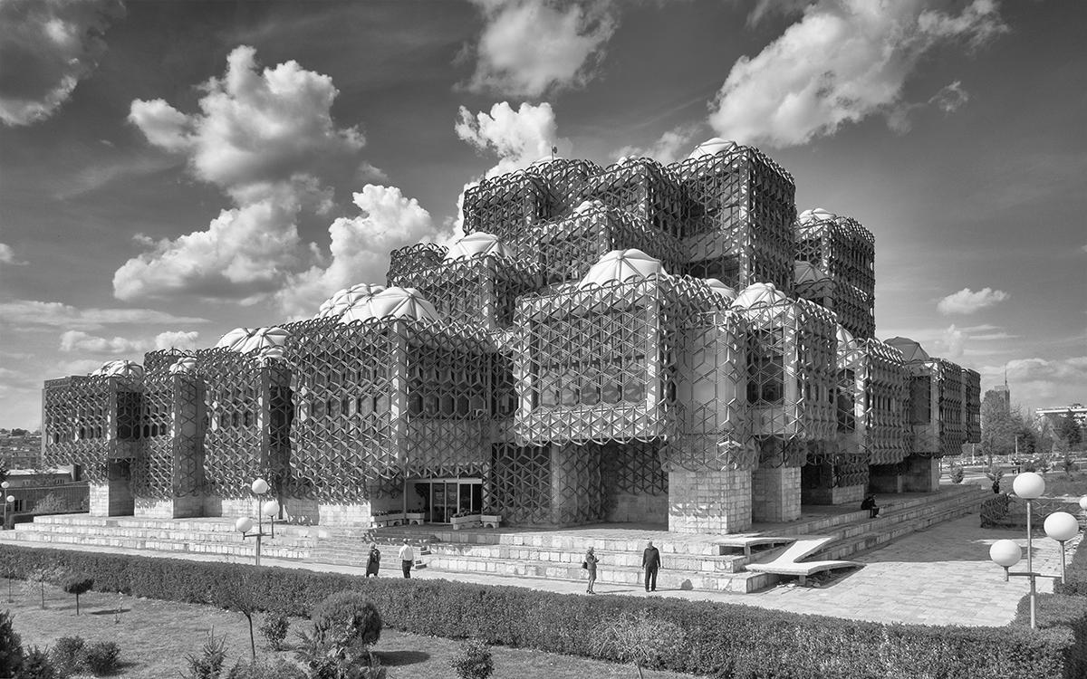 Pristina, central library