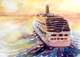 Postcards painted on cruise 2015